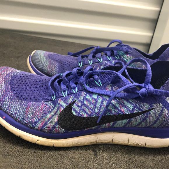 online store 427b1 65495 Nike Free 4.0 Flyknit Women's Purple Sneake SZ. 10